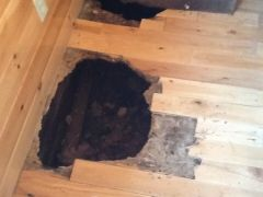 rotted sub-floor